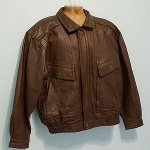 St.John's Bay Size XL Brown Genuine Leather Jacket